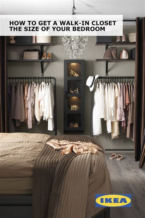 Walk In Closet Curtain by Create A Walk In Closet The Size Of Your Bedroom With Ikea