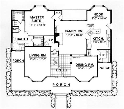 5 Bedroom 4 Bath Coastal House Plan #ALP 07W5