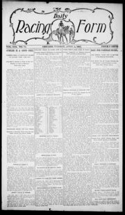 daily racing form n tuesday april 30 1907 daily racing form free download borrow and