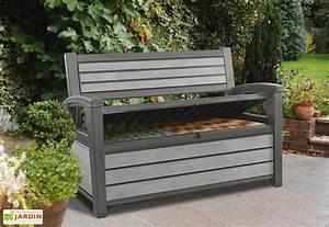Coffre De Jardin En Resine : banc de jardin banc design mon am nagement jardin ~ Teatrodelosmanantiales.com Idées de Décoration