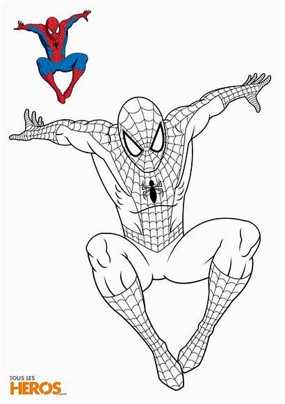 Coloring Pages Spiderman Cartoon Sheets Marvel Singham