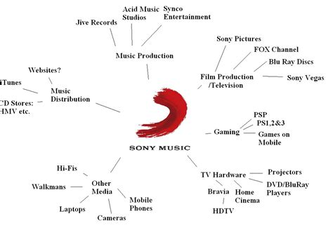 audiences  institutions sony  spider diagram
