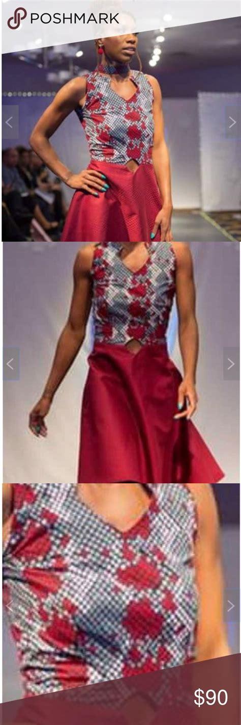 african ankara dress   diamond cutout  images