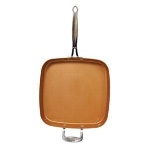 amazoncom red copper cookware   square frying pan  bulbhead  stick  scratch