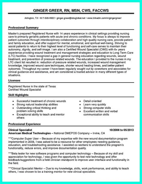 Icu Rn Resume Skills by 2695 Best Images About Resume Sle Template And Format On Business Intelligence