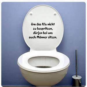 Aufkleber Für Toilettendeckel : klospruch aufkleber f r wc deckel sticker wandtattoo bad ~ Watch28wear.com Haus und Dekorationen