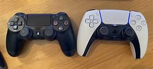 Playstation 5 Dualsense Vs Ps4 Dualshock Side