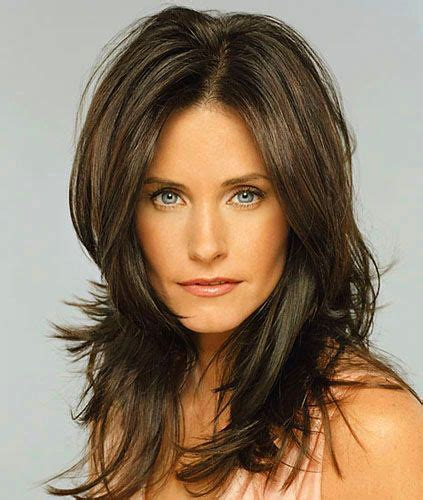 courteney  long hairstyle hairstyles pinterest