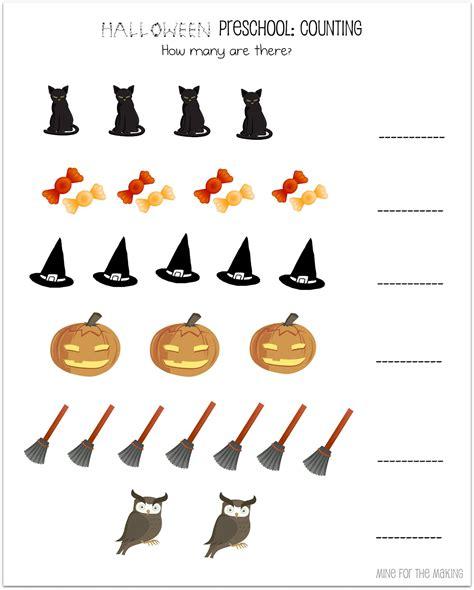 week preschool printables mine for 190 | Halloween Counting