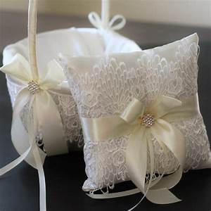 2 wedding baskets and 1 wedding ring pillow set by With wedding ring pillow sets