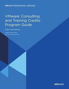Vmware Consulting  U0026 Training Program Guide
