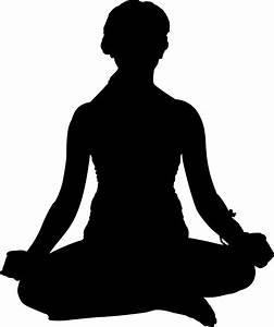 Clipart - Female Yoga Pose Silhouette 7
