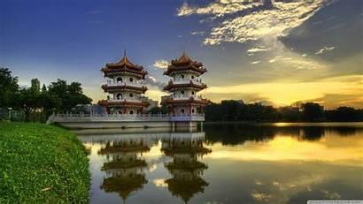 Landscape Asian Architecture Nature Singapore Forest Lake