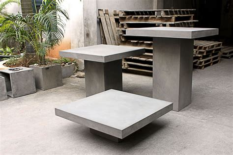 table de jardin en beton cire meuble de jardin en b 233 ton cir 233 tr 232 s original meuble et d 233 coration marseille mobilier design