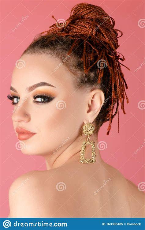 Beautiful Nude Woman With Beautiful Makeup Stock Image
