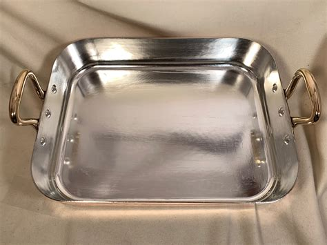 french bridge kitchenware hammered copper tin lined roasting pan rocky mountain retinning