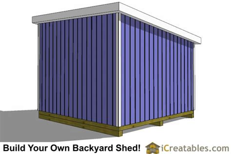 lean  shed plans icreatablescom