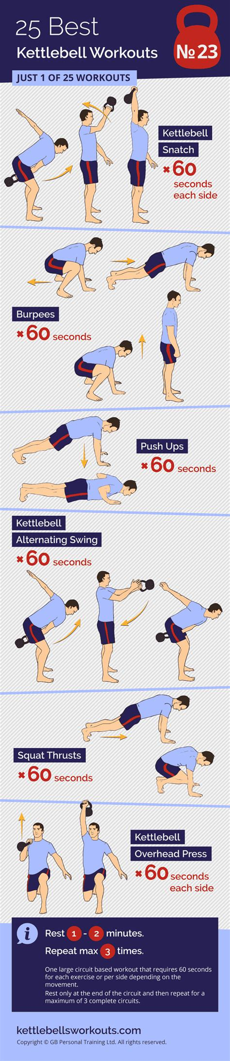 kettlebell circuit workout exercises