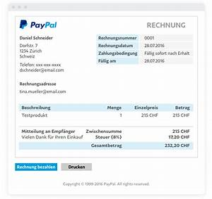 Paypal Rechnung Erstellen : e mail rechnungen l sungen f r paypal gesch ftskunden ~ Themetempest.com Abrechnung