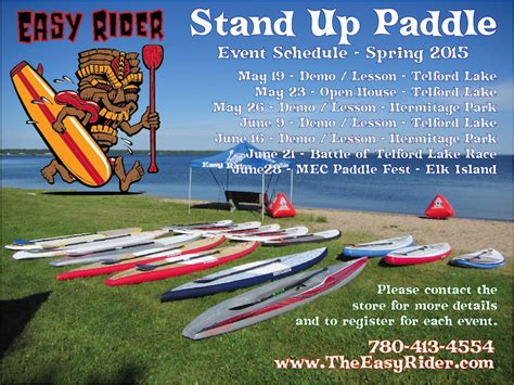 Stand Up Events by Stand Up Paddle Events Spring 2015 Schedule The Easy Rider
