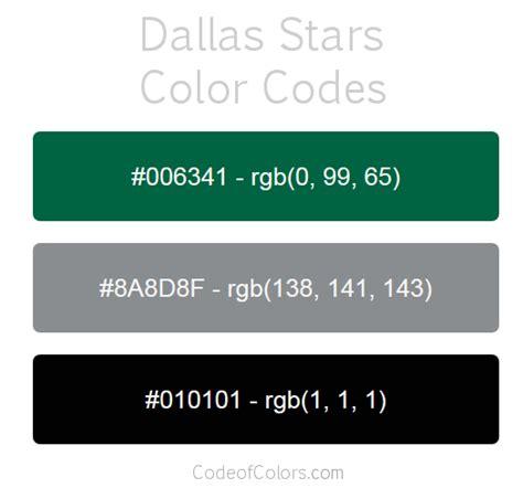 dallas stars colors hex  rgb color codes