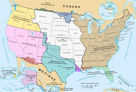 Carte Nord Ouest Détaillée by Fichier U S Territorial Acquisitions Fr Png Wikip 233 Dia