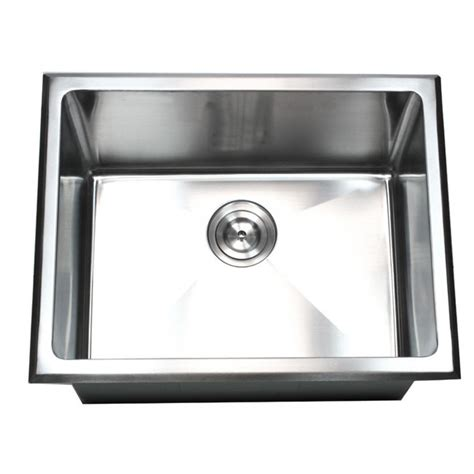 stainless steel deep bowl service sinks 23 inch undermount drop in stainless steel single bowl