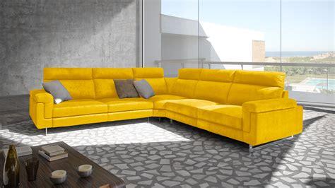 canap cuir jaune le mobiliermoss du nouveau côté canapé d angle