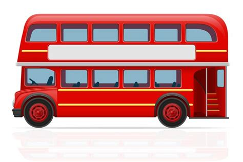 london red bus vector illustration   vector art stock graphics images