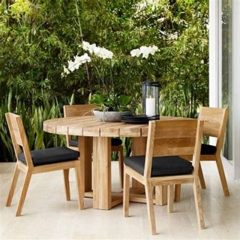 round wooden outdoor table 30 awesome outdoor dining area furniture ideas digsdigs