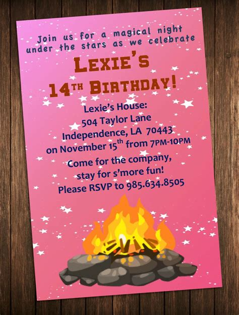 Bonfire Party Invitation Outdoor Campfire Birthday Party. Skills Based Resume Template. Monthly Meal Planner Template. Free Loan Contract Template. Good Professional Nursing Resume Examples. Create Architectural Manager Cover Letter. Montclair State University Graduate School. Free Psd Website Template. Hire A Flyer