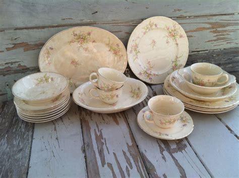shabby chic dinnerware vintage shabby chic dinnerware plate dish set by crocksville china co in ohio antique