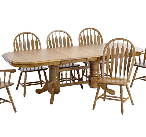trestle table and chairs intercon classic oak trestle dining table with 2 18