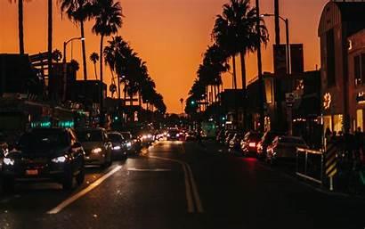 Street Road Night Cars 4k Dark Background