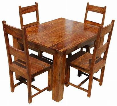 Dining Rustic Wood Sets Table Dinette Sheesham
