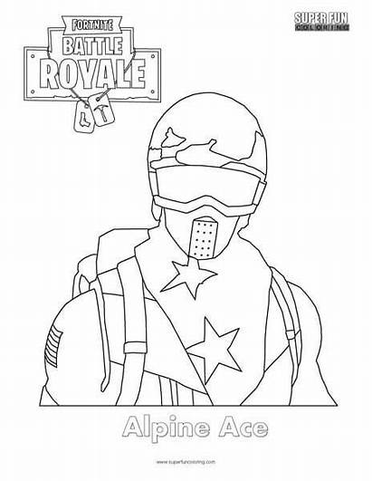 Fortnite Coloring Skin Pages Skins Ace Alpine