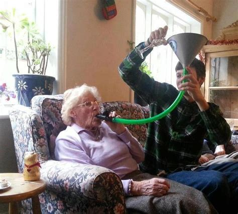 Beer Bong Meme - irti funny picture 2996 tags nan grandma beer bong wine sherry