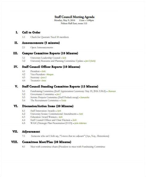 meeting agenda format  premium templates