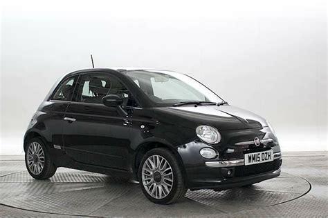 Black Fiat 500 by 2015 15 Reg Fiat 500 1 2 Lounge Crossover Black 3