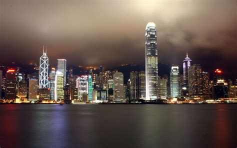 hong kong city ocean wide wallpapers hd wallpapers id