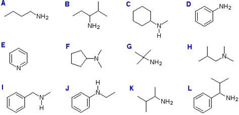 nomenclature amines