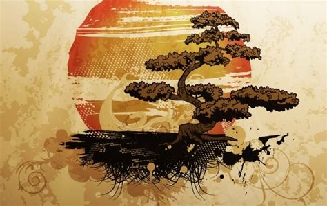 bonsai illustration  vector  encapsulated postscript