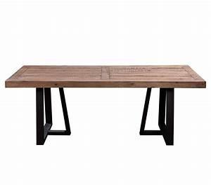 Natural And Black Dining Table AF 011 Modern Dining