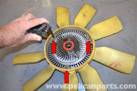 mercedes benz  cooling fan  shroud removal