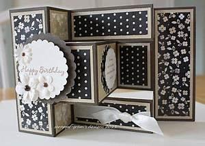 Scrappy Gram s Designs Silhouette Tri Fold Shutter Card