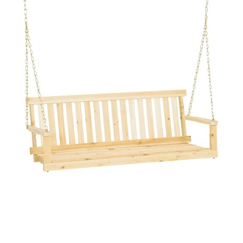Jennings H24 Traditional 4' Wooden Outdoor Porch Swing W