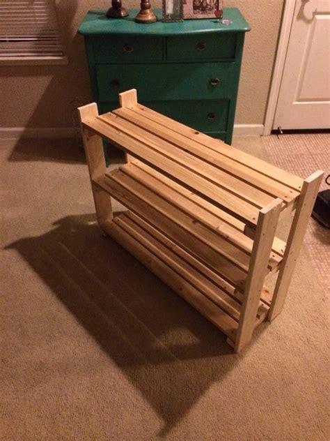 wooden shoe rack  steps