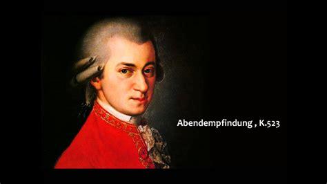 Wolfgang Amadeus Mozart - Abendempfindung , K.523 - YouTube