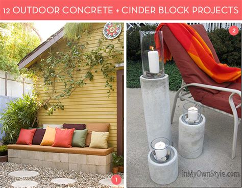 12 awesome concrete and cinder block outdoor diy projects