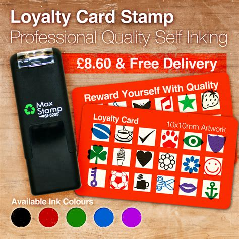 loyalty card rubber stamps  inking maxstamp trodat